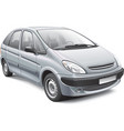 french compact mpv vector image vector image