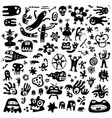 funny microbes characters cartoon set design vector image vector image