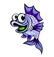 Funny violet fish vector image
