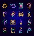 garden neon icons vector image vector image