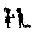 Girl and boy friendship vector image vector image