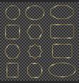 golden shiny frames gold sparkling geometric line vector image vector image