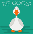 Goose mascot vector image vector image