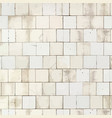 grunge tiled subway wall background vector image