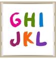 hand-draw alphabet vector image