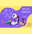 isometric concept for human resources group of vector image