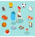 Isometric sport lifestyle and fitness flat 3d vector image
