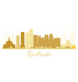 Kinshasa City skyline golden silhouette vector image vector image
