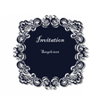 Lace ornamented round invitation vector image vector image
