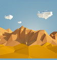 low poly desert in paper art style vector image