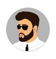 man icon gentleman logo a with a beard