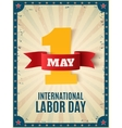 May 1st Labor Day background template vector image vector image