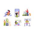 online booking traveling concept scenes vector image vector image