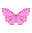 origami pink butterfly icon cartoon style vector image vector image