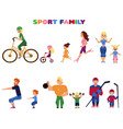 people parents and kids doing sport activities vector image vector image