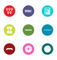 point icons set flat style vector image vector image
