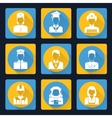 Professional avatar icons set vector image vector image