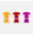 realistic design element Football clothing vector image
