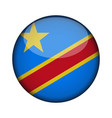 republic of the congo democratic flag in glossy vector image