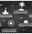 Seaside chalk drawn seamless pattern vector image vector image