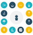 set of 13 editable planting icons includes vector image