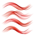 Set of abstract color wave vector image vector image