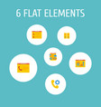 set of development icons flat style symbols with vector image vector image