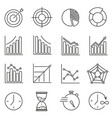 set of icons for business training time graphics vector image vector image