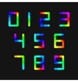 Set of rainbow numbers vector image vector image