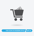 shopping cart icon simple car sign vector image vector image