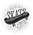 Sign with word Skate riding on it For tattoos vector image vector image