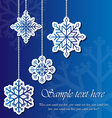 Snowflake sticker background vector image