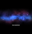 space background milky way with colorful stars vector image vector image