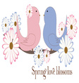 Spring Love Blossoms vector image vector image