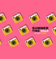 summer time layout designpattern pop art vector image vector image