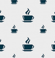 tea coffee icon sign Seamless pattern with vector image vector image