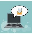 Technology design laptop icon internet concept vector image vector image