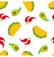 traditional taco day seamless pattern vector image vector image