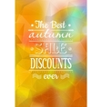 Vintage bright Fall Sale background vector image vector image