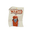 western wanted poster icon vector image vector image