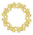 pasta mix in circle shape colored hand drawn vector image