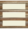 template white banner on the wooden table vector image