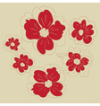 Doodle Flowers3 vector image