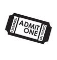 Film ticket vector image