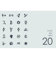 Set of zika virus icons vector image