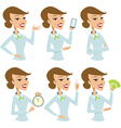 Business lady cartoon character vector image