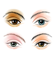 Eye Set vector image