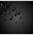 Abstract black music background vector image vector image