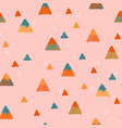 abstract mountains seamless pattern cute vector image