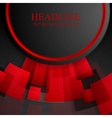 Abstract tech red and black background vector image vector image